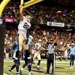 Jimmy Graham protesting the NFL's no-dunking policy