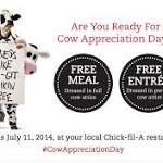 Chick-fil-A celebrates Cow Appreciation Day