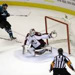 Sharks help Blues by beating Avs; Halak sidesteps questions about not facing ...