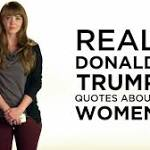 Women read sexist Donald Trump quotes in powerful new attack ad