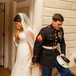 Photo of Marine praying with bride-to-be goes viral: 'There were no dry eyes in ...