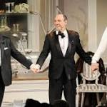 Nathan Lane parties and Matthew Broderick looks pooped in It's Only a Play ...