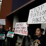 University of California's Students protest against Tuition Hike