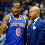 Derek Fisher: Title talk 'not for Knicks right now'