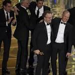 'Spotlight' shines at the Oscars; DiCaprio, Larson take home statuettes