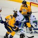 Smith's goals lead Predators over Canucks, 5-1