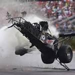 Larry Dixon unhurt in spectacular Top Fuel crash at NHRA Gatornationals