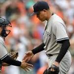 Brian Matusz, Orioles are unable to fend off rally from Yankees