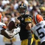 Steelers 17-1 with Roethlisberger against the Browns