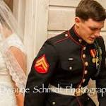 Photo of Marine groom, bride from NC goes viral