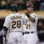 Lester hurls three-hit shutout as A's beat Twins, 3-0