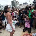Topless protest on Brazil beach falls flat