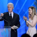 Bill Clinton Accepts Award From Daughter Chelsea At GLAAD Media Awards