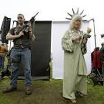 Gun-rights advocates protest expanded background check law at Washington ...