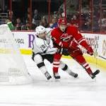 Los Angeles Kings Hold Off Carolina Hurricanes in 3-2 Victory