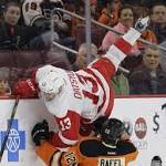 Schenn's 2 Goals Help Flyers Rout Slumping Red Wings 7-2