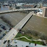 Rivers well above flood stage in much of Midwest