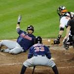 Indians 5, Orioles 2: Brantley drives in four; pitching solid in road win