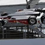 Castroneves returns to track just hours after frightening flip at Indy