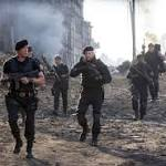 """The Expendables 3"" is still all tough guy talk, geriatric walk"