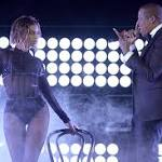 Jay Z joins wife Beyonce in sizzling Grammy opening number