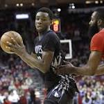 Timberwolves fall to energized Harden, Rockets