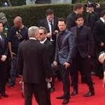 'Entourage' the Movie Films on the Golden Globes Red Carpet