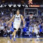 Nowitzki Scores 25, Mavs Hang on to Beat Lowly Magic 107-102