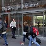 New York Times Co. reports an advertising drop, though digital results grew