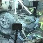 Walnut Creek: Two injured when car flies off Highway 24, hits building