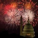 Fireworks, hot dogs, hurricane help mark July Fourth in U.S.