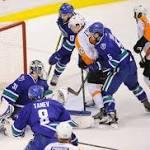 Canucks, Burrows take down Flyers, 4-1