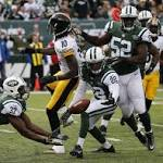 At the half: Jets lead Pittsburgh Steelers 17-3, as backup safety Jaiquawn Jarrett ...