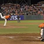 San Francisco Giants' Yusmeiro Petit falls one out short of a perfect game