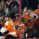 Flyers overcome Holtby, beat Capitals in overtime with power-play goal, 3-2