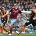 West Ham 3-0 Hull City: Second-half barrage earns Hammers first win since ...