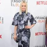 Taylor Schilling stands out in skull-patterned dress at Orange Is The New Black ...