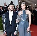 Gigi Hadid and Zayn Malik Make Their Red Carpet Debut at Met Gala 2016