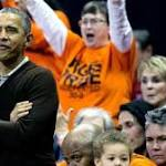 President Barack Obama cheers niece on at NCAA women's basketball ...