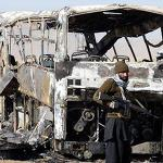 Bomb blast on bus kills nine in northwest Pakistan