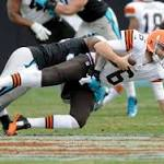 Panthers keep on running in 17-13 win over Browns