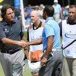 Phil Mickelson and Brian Davis share lead at 63