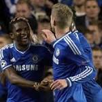 Chelsea 3 - Schalke 0: Lucky Sam plays it again as Eto'o does job for Jose ...