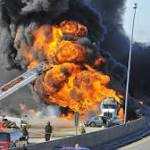 Aftermath of Blaze Impacting Mich. Interstate Traffic