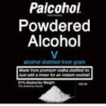 Powdered alcohols don't have approvals