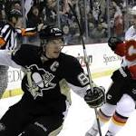 Penguins beat Flames 4-3 for 7th straight win