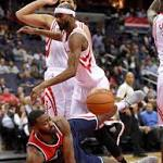 Harden's 32 points, 15 assists lead Rockets past Wiz 114-106