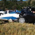 Plane In Fatal SoCal I-15 Crash Once Landed By SF Giants Catcher Nokes On Same Freeway