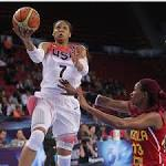 US women rout Angola 119-44 finish pool play 3-0