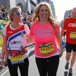 Heather Abbott and Erin Chatham complete the race together